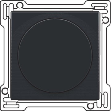 Niko  NIKO Dimmers 45x45 SET DIMMER BAK. BLACK