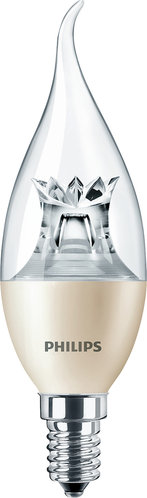 Philips LED-Lampe MAS LEDcandle DT 6-40W E14 827 BA38 CL / EEK: A+