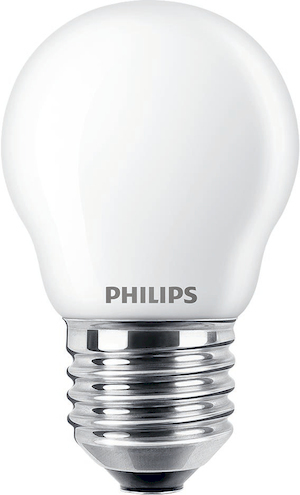Philips LED-Lampe CLA LEDCandle ND 2.2-25W P45 E27 FR / EEK: A++