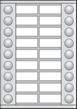 Niko  NIKO Türkommunikation - EXTENSION 2x9 BUTTONS